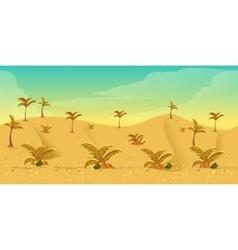 Desert Game Background vector image