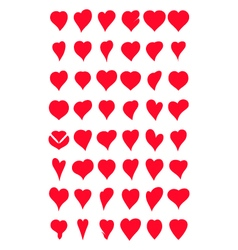 hearts collection for you design vector image