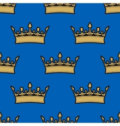Seamless pattern of gold crowns vector image