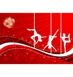 vector silhouettes dancing women vector image vector image
