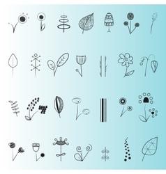 Floral decor set vector image