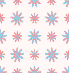 flowers pattern seamless vector image vector image