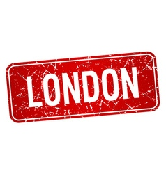London red stamp isolated on white background vector