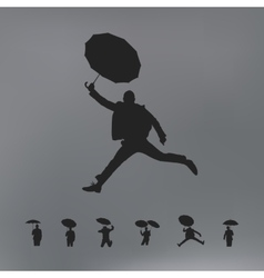 People with umbrella vector image vector image