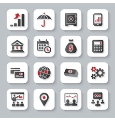 Set of flat modern business web icons vector image vector image