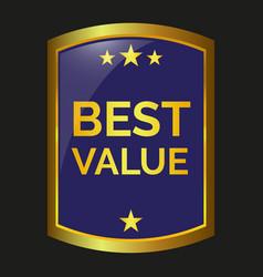 best value label vector image vector image
