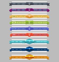 classic menus vector image