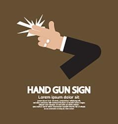 Hand Gun Sign Graphic vector image