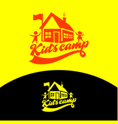 Logo of the kids camp vector