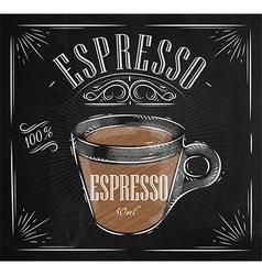 Poster espresso chalk vector image