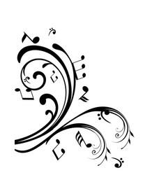 swirls notes vector image