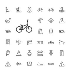 33 road icons vector