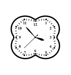 a clock icon in outline time minute vector image