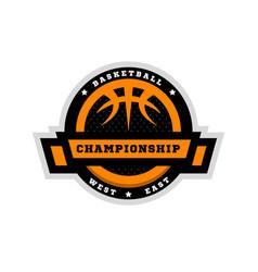 basketball championship sports logo emblem vector image