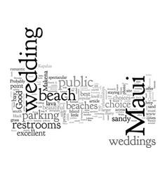 Best beach for maui weddings vector