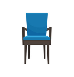 blue armchair comfortable furniture element for vector image