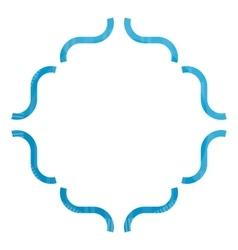 Blue Decorative frame vector image