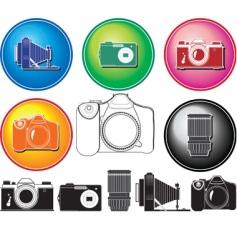 camera history vector image