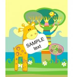 cartoon zoo vector image