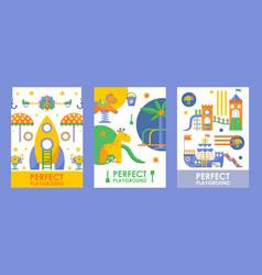 children playground banner vector image