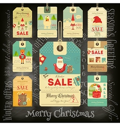Christmas Sale Tags in Vintage Style vector