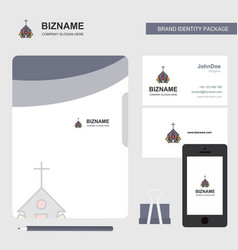 church business logo file cover visiting card and vector image
