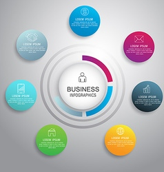 circle infographic business template design Can be vector image