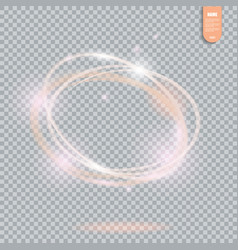 Circle light effect on transparent background vector