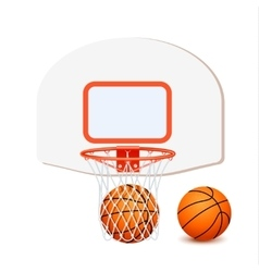 Colored Basketball Composition vector