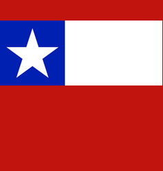 Colored flag of chile vector
