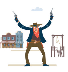 Cowboy western character wild west gunslinger vector