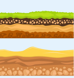 Cross section of ground vector
