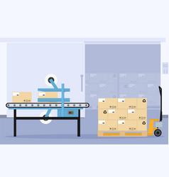Design of sealing machine in the food indus vector