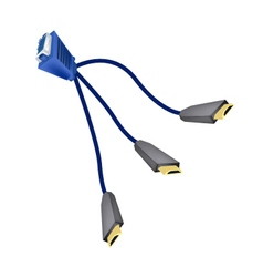 DVI Digital Video Interface or VGA to HDMI Cables vector