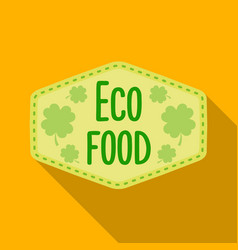 Eco-food icon in flat style isolated on white vector