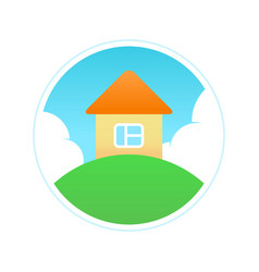 eco house in clean ecology place vector image