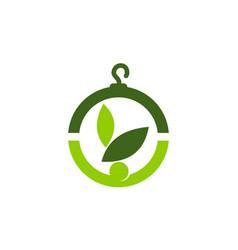 Eco laundry logo design template vector