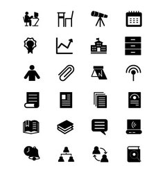 Education Solid Icons 6 vector