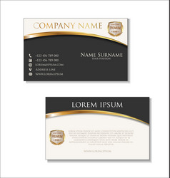 Elegant business card design template 01 vector