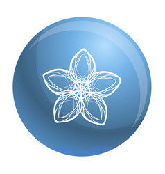exotic flower icon simple style vector image