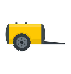 Farm trail cistern icon flat style vector