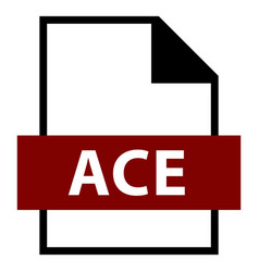 File name extension ace type vector