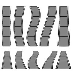 film strip for photography concepts set of vector image
