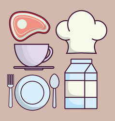 Food related icons vector