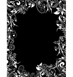 frame floral for design vector image