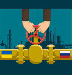 Gas pipeline with valve vector