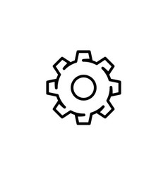 gear outline style vector image