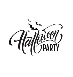 halloween party lettering for invitation vector image