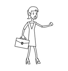 Happy business woman icon image vector