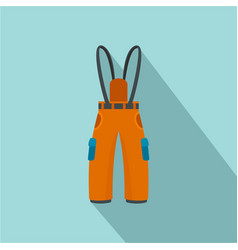 hiking pants icon flat style vector image